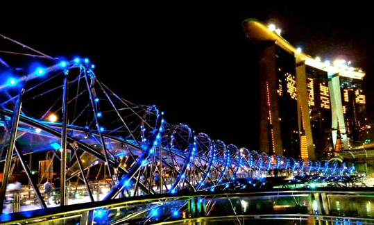 vue de pont la nuit